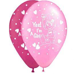 """12"""" Μπαλόνι Yes m a girl μωρό"""