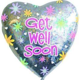 Μπαλόνι καρδιά Get Well Soon 61 εκ