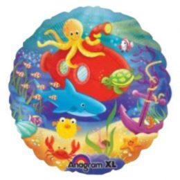 Μπαλόνι στρογγυλό Θαλάσσια ζωή 45 εκ