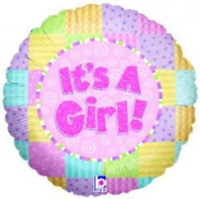 Μπαλόνι γέννησης It's a Girl παστέλ 45 εκ