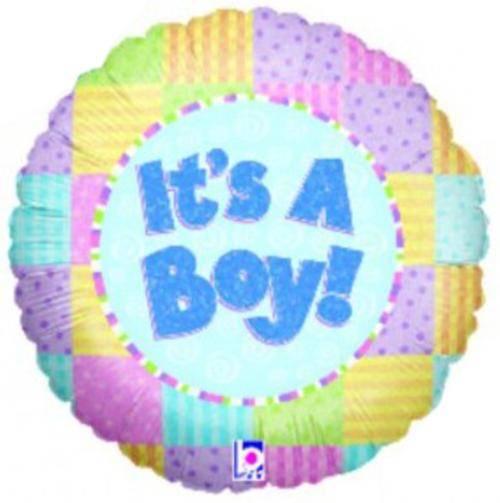 Μπαλόνι γέννησης It's a Boy παστέλ 45 εκ