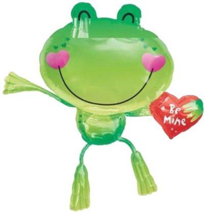 Μπαλόνι αγάπης Βατραχάκι με καρδιά Be Mine 81 εκ