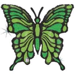 Μπαλόνι Πεταλούδα λαχανί-μαύρη 84 εκ