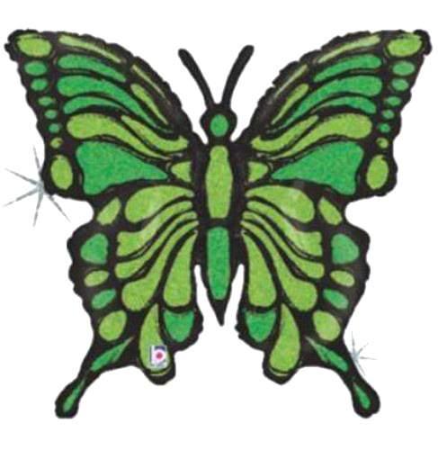Μπαλόνι Πεταλούδα λαχανί-μαύρη