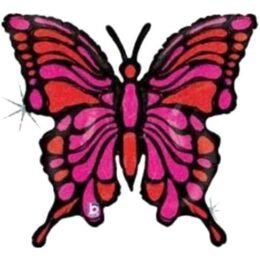 Μπαλόνι Πεταλούδα φούξια-μαύρη 84 εκ