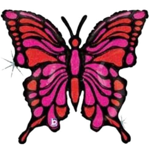 Μπαλόνι Πεταλούδα φούξια-μαύρη