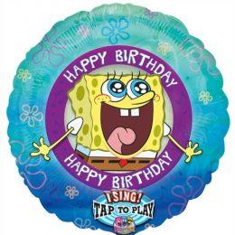 Μπαλόνι μουσικό Bob Spongebob Happy Bday 71 εκ
