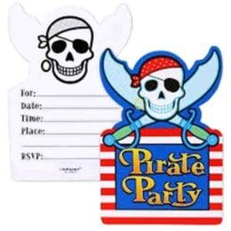Προσκλήσεις για πάρτυ Πειρατές (8 τεμ)