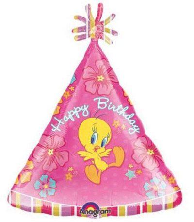 Μπαλόνι Tweety καπέλο 'Happy Birthday'