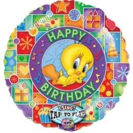 Μπαλόνι μουσικό Tweety Happy Bday 71 εκ