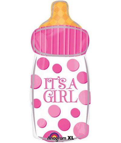 Μπαλόνι γέννησης Μπιμπερό πουά It's A Girl