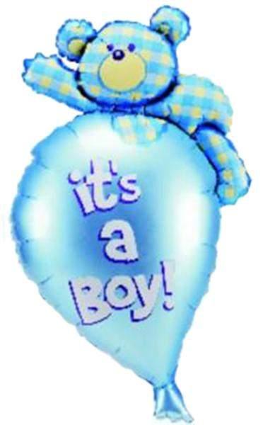 Μπαλόνι γέννησης Αρκουδάκι It's a Boy 91 εκ