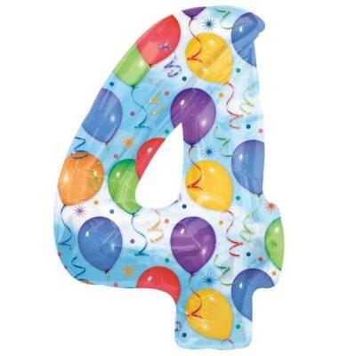 Μπαλόνι 86 εκ Αριθμός 4 balloons
