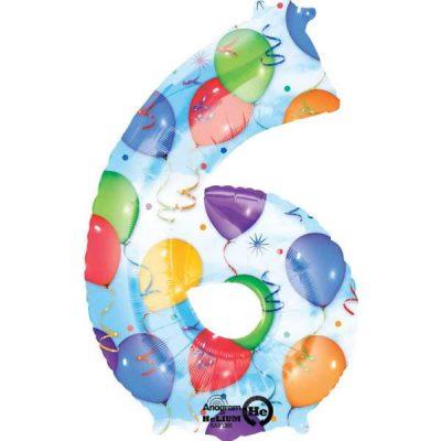 Μπαλόνι 86 εκ Αριθμός 6 balloons