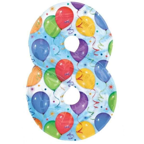 Μπαλόνι 86 εκ Αριθμός 8 balloons