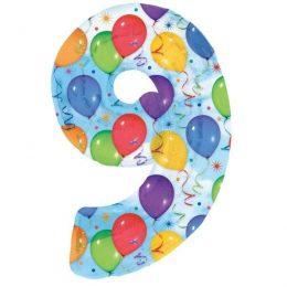 Μπαλόνι 86 εκ Αριθμός 9 balloons