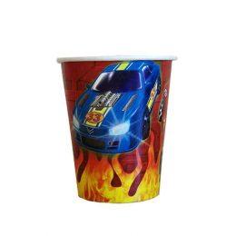 Ποτήρια πάρτυ χάρτινα αυτοκίνητα ράλλυ (8 τεμ)