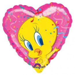 Μπαλόνι Tweety ροζ Καρδιά 45 εκ