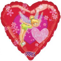 """Μπαλόνι Tinkerbell καρδιά """"I Love You""""45 εκ"""