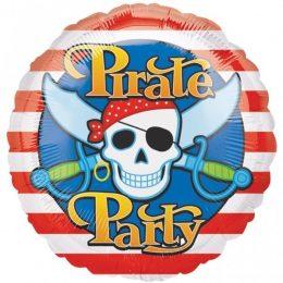 Μπαλόνι Pirate Party νεκροκεφαλή 45 εκ