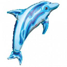 Μπαλόνι γαλάζιο Δελφίνι ιριδίζον 94 εκ