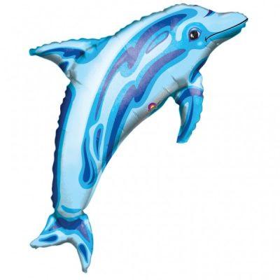 Μπαλόνι γαλάζιο Δελφίνι ιριδίζον