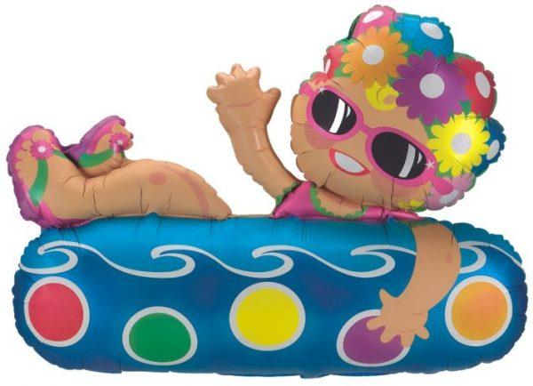 Μπαλόνι Κορίτσι που κολυμπάει