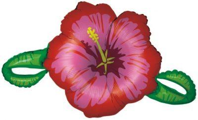 Μπαλόνι Κόκκινο λουλούδι ιβίσκος