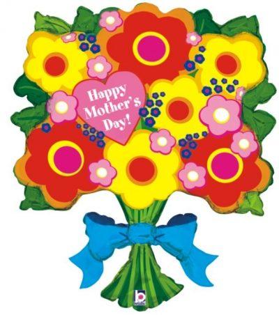 Μπαλόνι Μπουκέτο λουλούδια Mother's Day