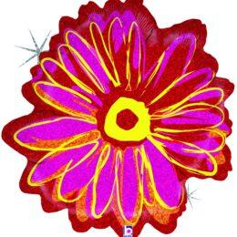Μπαλόνι Φούξια Λουλούδι που ιριδίζει
