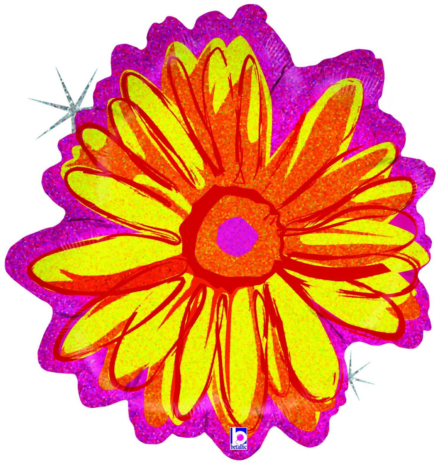 Μπαλόνι Κίτρινο Λουλούδι Που Ιριδίζει