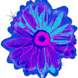 Μπαλόνι Μπλε Λουλούδι Που Ιριδίζει