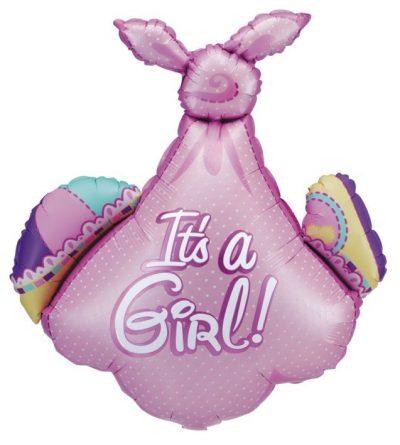 Μπαλόνι γέννησης ροζ Πάνα μωρού