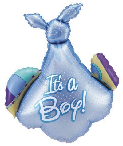 Μπαλόνι γέννησης μπλε Πάνα μωρού