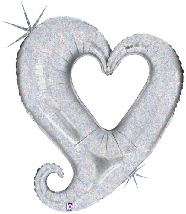 Μπαλόνι αγάπης Καρδιά ασημί