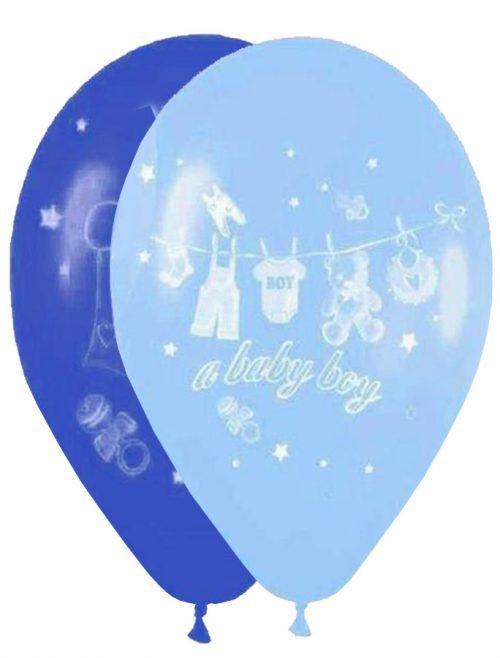 """12"""" Μπαλόνι Α baby boy καρότσι"""