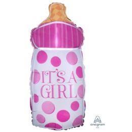 Μπαλόνι γέννησης Μπιμπερό πουά It's A Girl 58 εκ