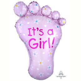Μπαλόνι γέννησης Πατούσα Its a Girl