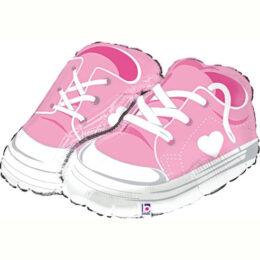 Μπαλόνι γέννησης ροζ παιδικά παπουτσάκια