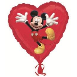 Μπαλόνι Mickey Mouse κόκκινη καρδιά