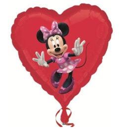 Μπαλόνι Minnie Mouse κόκκινη καρδιά