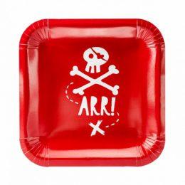 Πιάτα κόκκινα Πειρατές - Arr (8 τεμ)