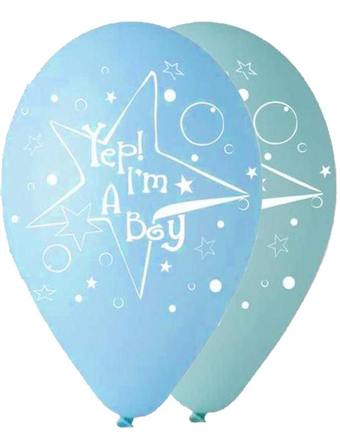 """12"""" Μπαλόνι Yep I'm a boy"""