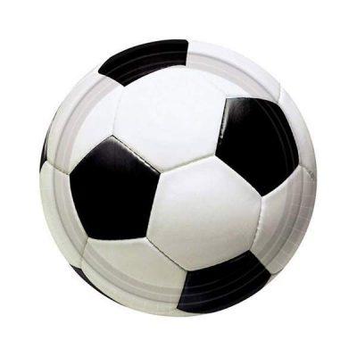 Πιάτα πάρτυ μικρά μπάλα Ποδοσφαίρου (8 τεμ)