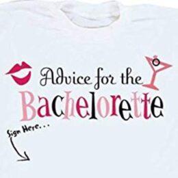 """Μπλουζακι """"Advice for the Bride"""" με μαρκαδόρο"""