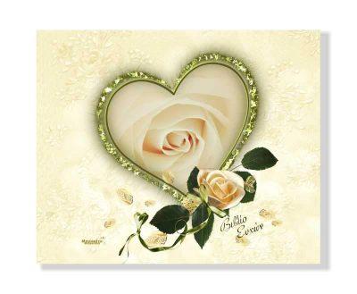 Χειροποίητο βιβλίο ευχών Χρυσαφί τριαντάφυλλα