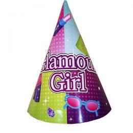 Καπελάκια χάρτινα Glamour girl (8 τεμ)