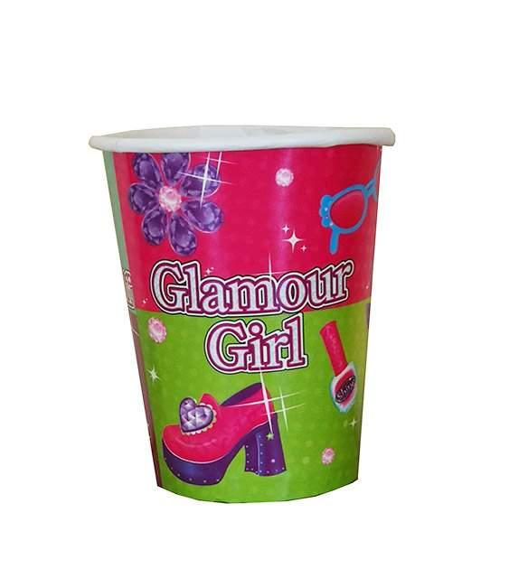Ποτήρια πάρτυ Glamour girl (8 τεμ)