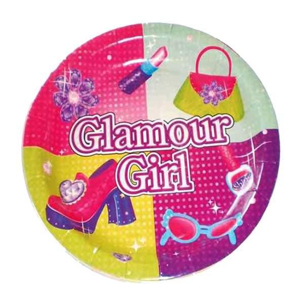 Πιάτα πάρτυ μικρά glamour girl (8 τεμ)
