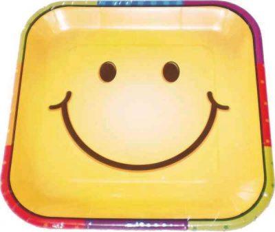 Πιάτα τετράγωνα Smiley Face (8 τεμ)